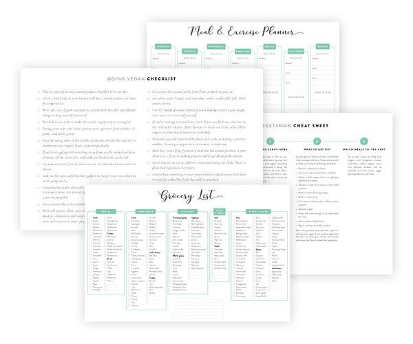 From A to Vegan: Printables & Cheat Sheets