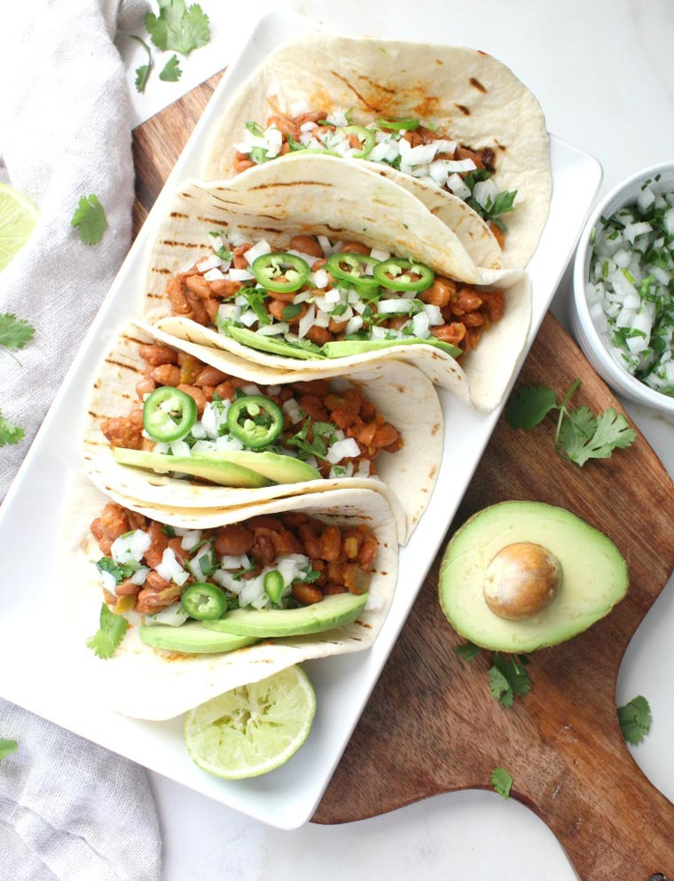vegan bean tacos