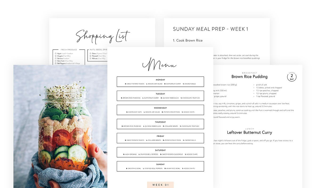 Live Lightly Meal Plan Excerpt