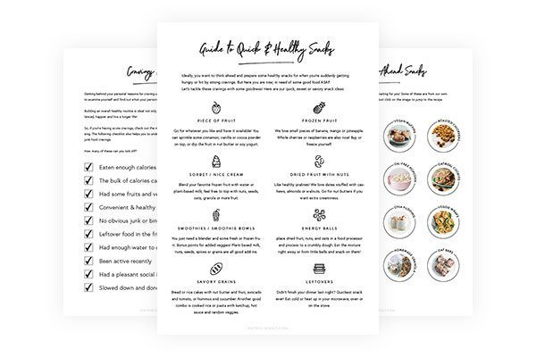 Craving junk food cheat sheets