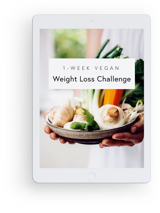 3D Mockup with White iPad Showing Nutriciously's 1-Week Vegan Weight Loss Challenge