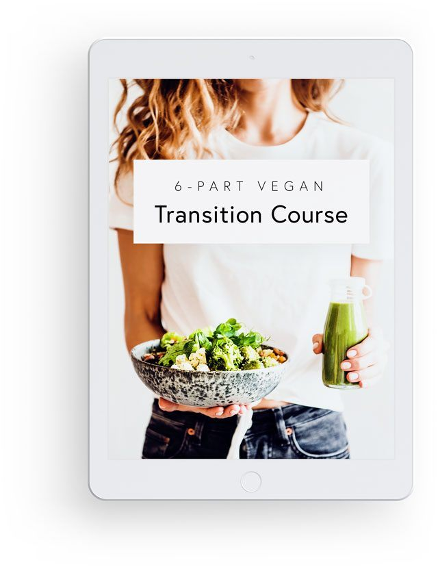 3D Mockup with White iPad Showing Nutriciously's 6-Part Vegan Transition Course