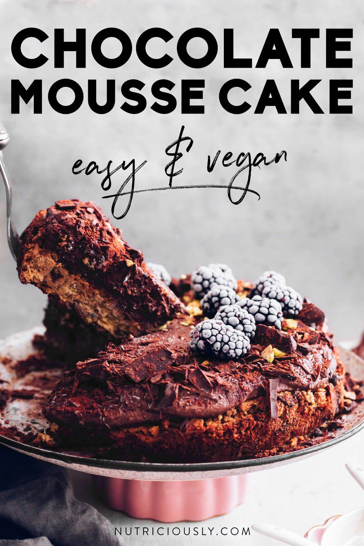 vegan chocolate mousse cake pin