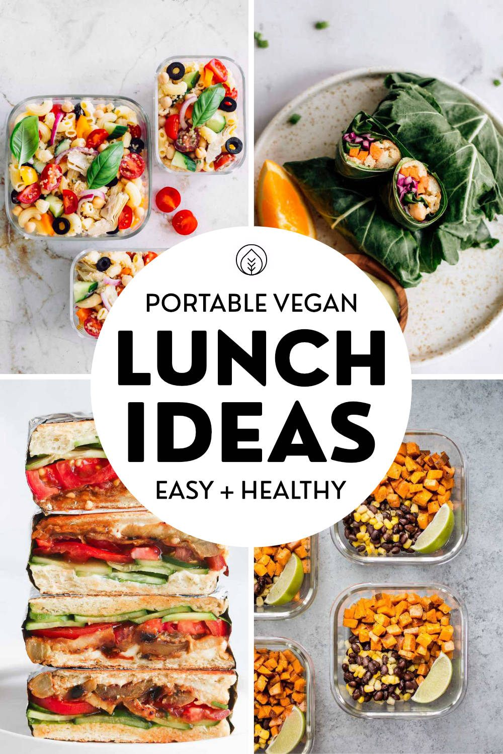 Cold Vegan Lunch Ideas Pin
