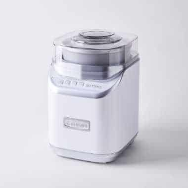 modern white and grey Ice Cream Maker from the brand Cuisinart