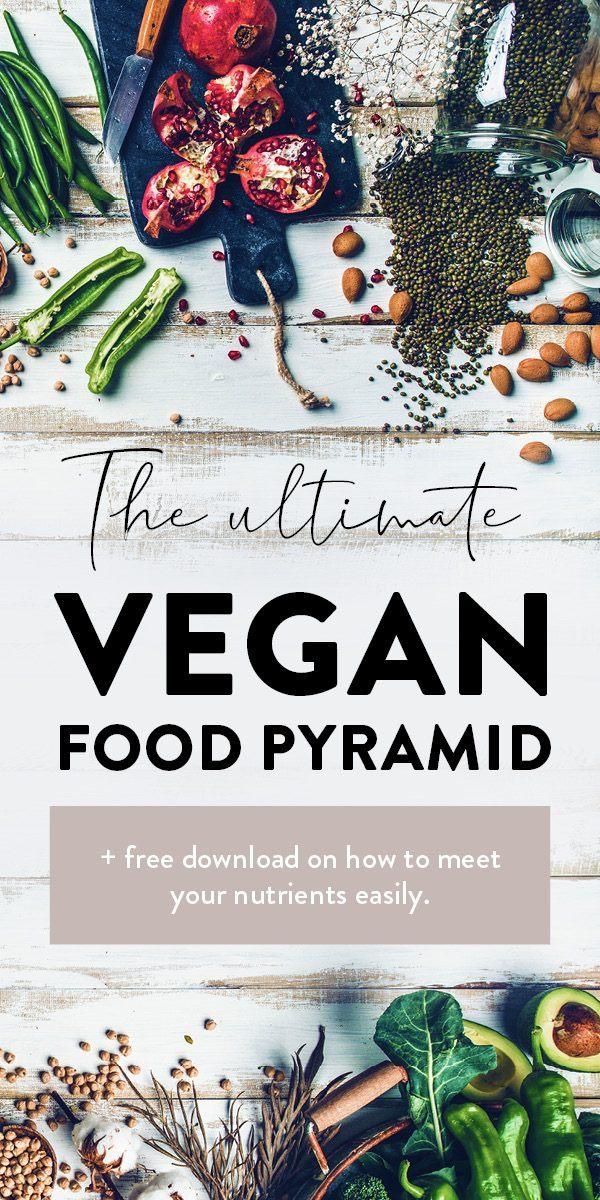 Vegan Food pyramid Pin
