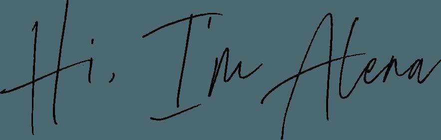 Hi Im Alena handwritten font