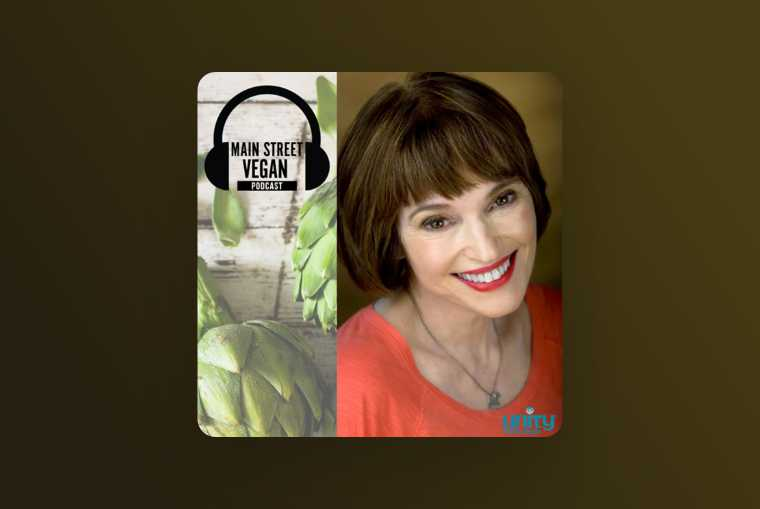 main street vegan podcast image on brown background