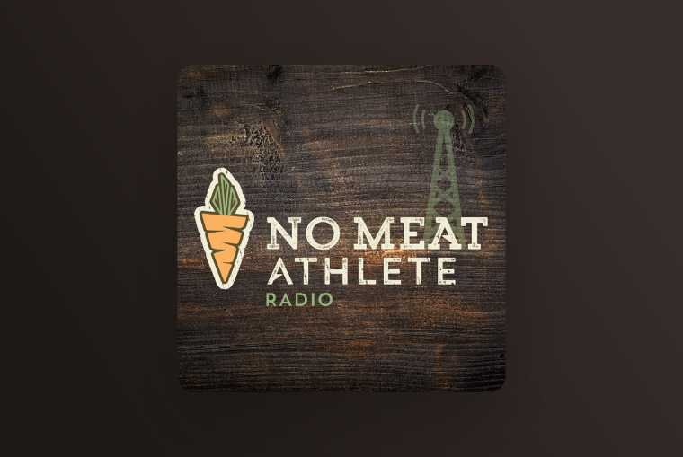 no meat athlete radio image on dark background