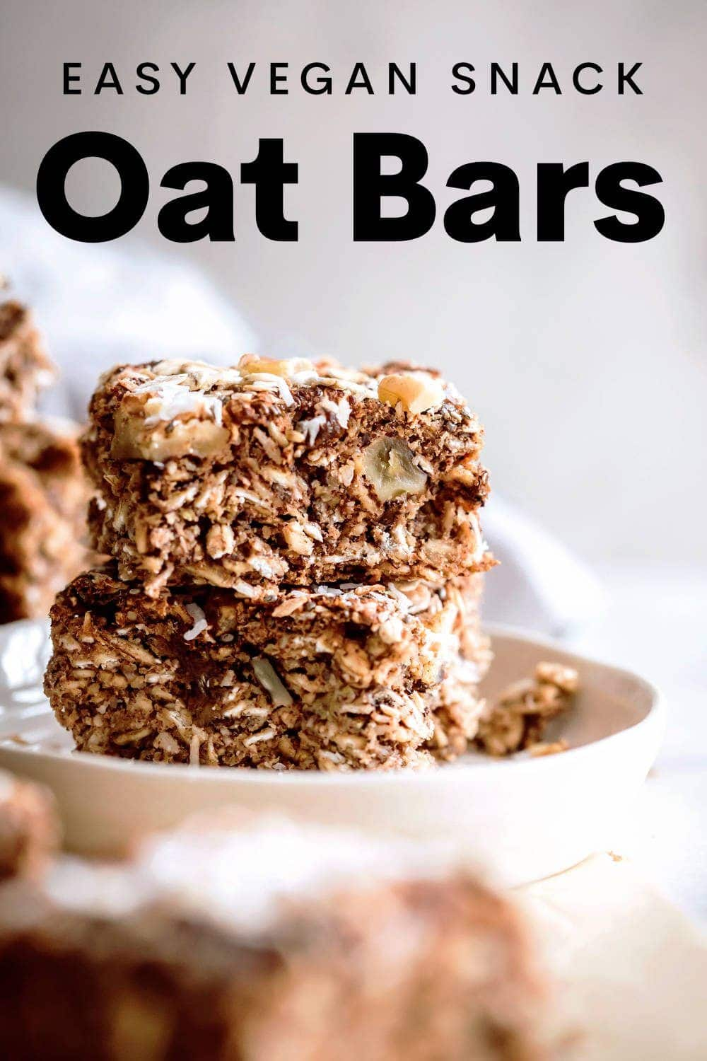Vegan Oat Bars Pin