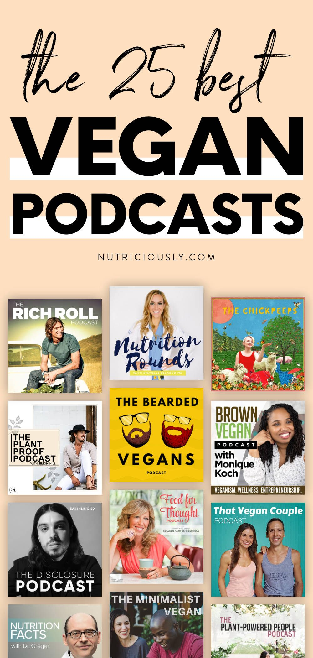 Vegan Podcasts Pin