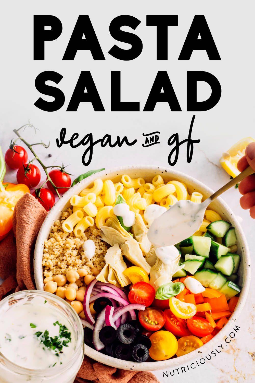 Quinoa Pasta Salad Pin