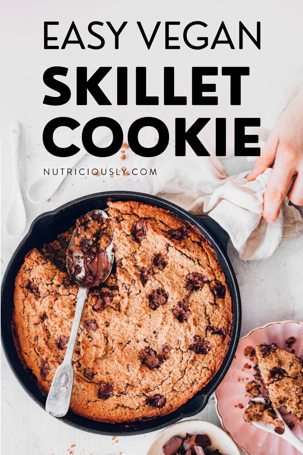 Vegan Skillet Cookie Cake Pin