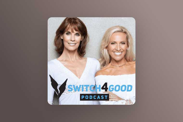 switch4good podcast image on light brown background