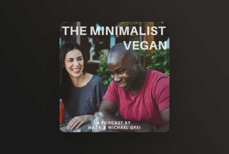 the minimalist vegan image on dark brown image