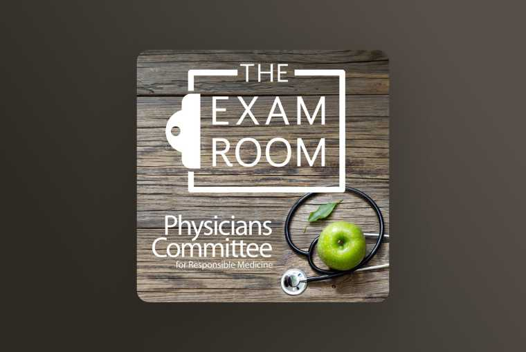 the exam room image on brown background