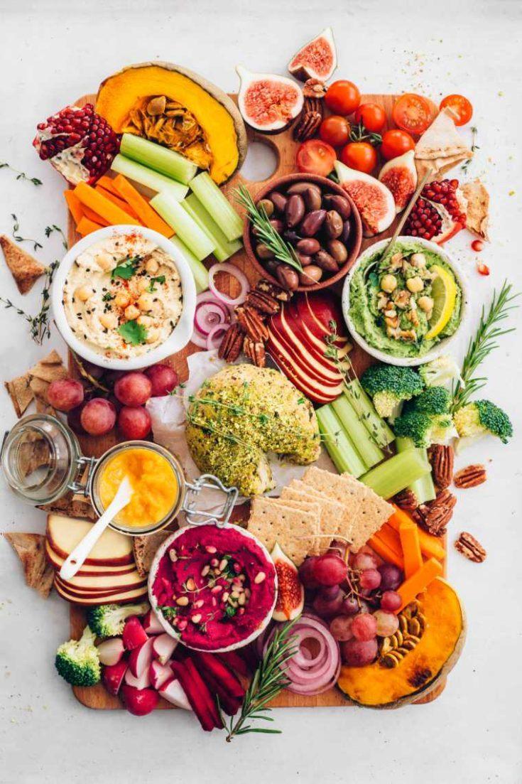Amazing Vegan Hummus Cheese Appetizer Platter