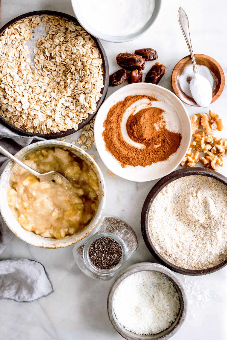 Vegan Oatmeal Bars Ingredients