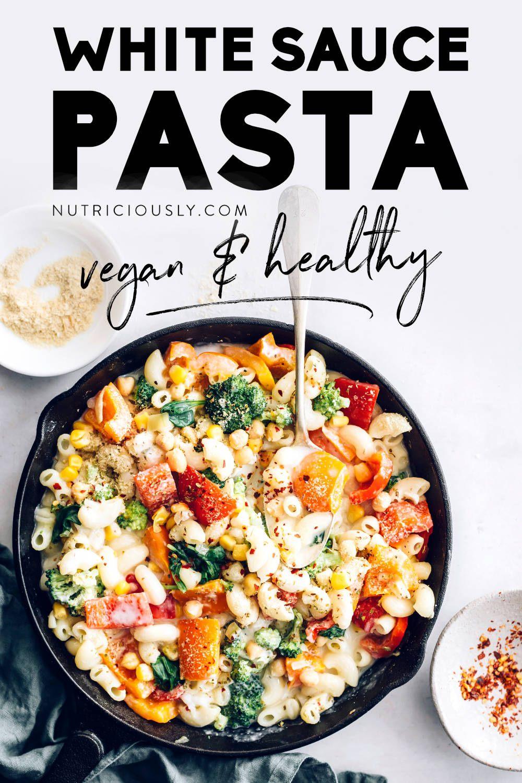 Vegan White Sauce Pasta Pin