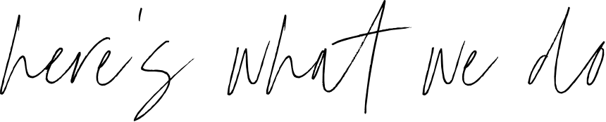 heres what we do handwritten font