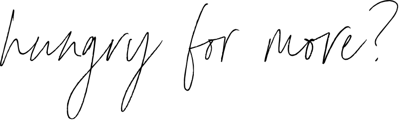 hungry for more handwritten font