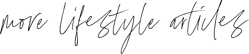 more lifestyle articles handwritten font